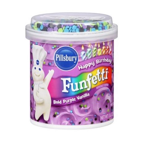 """Nappage violet à la vanille et confettis """"bold purple"""" - 442 g"""