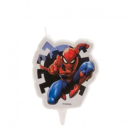 """Bougie d'anniversaire """"Spiderman l'araignée"""""""