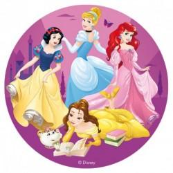 """Disque azyme """"Le plus belles princesses"""" - 16 cm"""