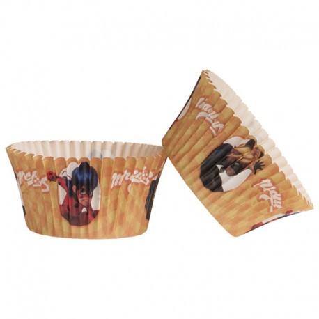 25 caissettes à cupcakes Miraculous