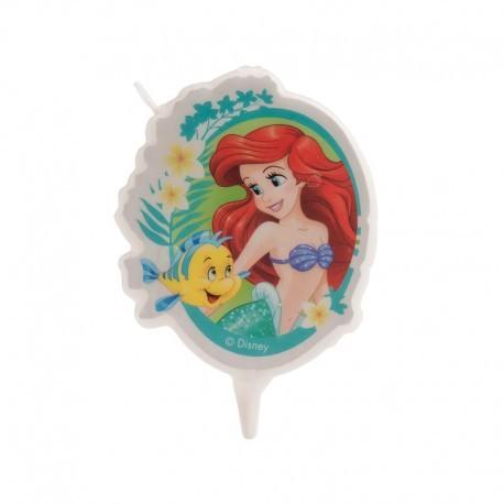 """Bougie d'anniversaire """"Ariel la petite sirène et Polochon"""""""