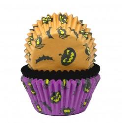 """75 caissettes à cupcakes standard """"Citrouilles"""""""