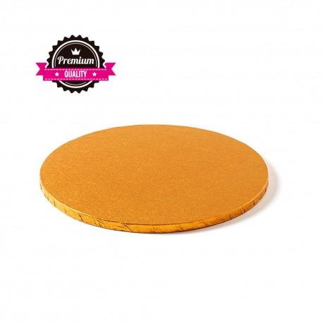 Support à gâteau rond orange - Différentes tailles
