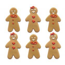 """6 décors en sucre """"Bonhommes de pain d'épices"""""""