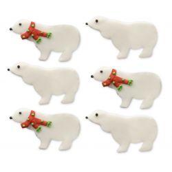 """6 décors en sucre """"Ours polaires"""""""