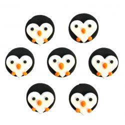 """7 décors en sucre """"Pingouins"""""""