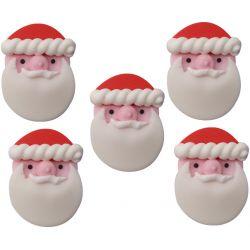 """5 décors en sucre """"Petit papa Noël"""""""
