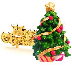 """Topper sapin de Noël """"Merry Christmas"""""""
