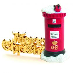 "Topper mailbox et lettrage ""Merry Christmas"""