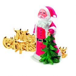 """Topper Père Noël """"Merry Chistmas"""""""