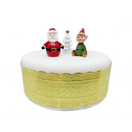"""Toppers """"Père Noël et lutin"""""""