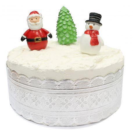 """Toppers """"Bonhomme de neige et Père Noël"""""""""""