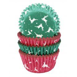 """75 caissettes à cupcakes """"Renne de Noël"""""""