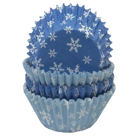 """100 caissettes à cupcakes standard """"Flocons"""""""