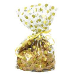 """20 sachets à biscuits et confiseries """"Pois dorés"""""""