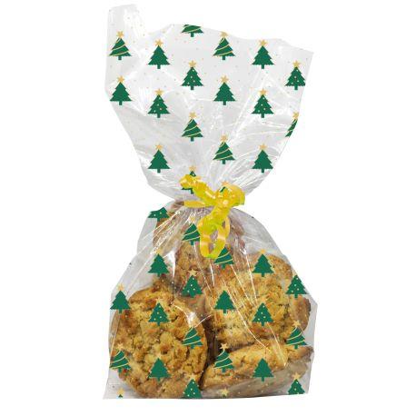 """20 sachets à biscuits et confiseries """"Sapins"""""""