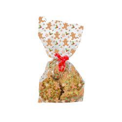 """20 sachets à biscuits et confiseries """"Bonhomme de pain d'épices"""""""