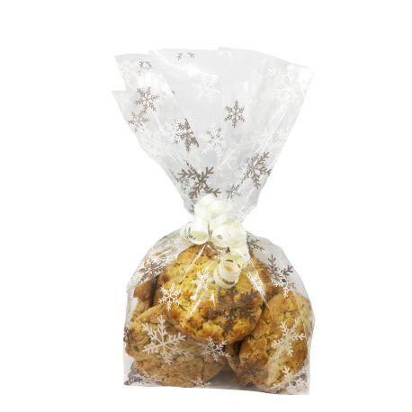 """20 sachets à biscuits et confiseries """"Flocons argentés"""""""