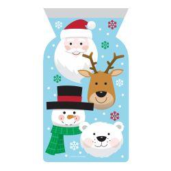 """12 sachets zip pour biscuits et confiseries """"Noël"""""""