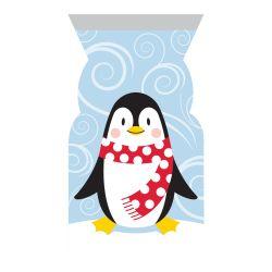 """12 sachets zip pour biscuits et confiseries """"Pingouins"""""""