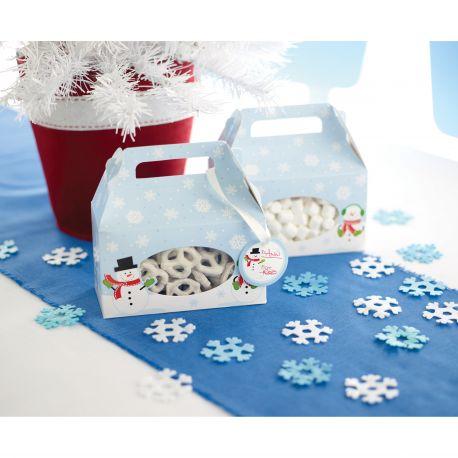 """4 boîtes pour biscuits """"Bonhomme de neige"""""""