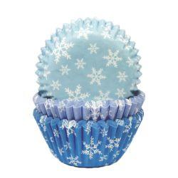 """75 caissettes à cupcakes standard """"Flocons"""""""