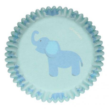 """48 caissettes à cupcakes """"Babyshower bleue"""""""