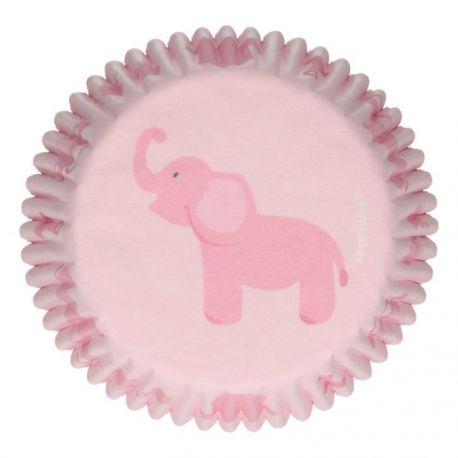 "48 caissettes à cupcakes standard ""Babyshower rose"""