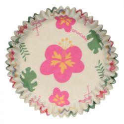 """48 caissettes à cupcakes standard """"Tropical"""""""