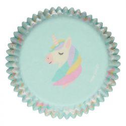 """48 caissettes à cupcakes standard """"Licorne arc-en-ciel"""""""