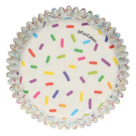 """48 caissettes à cupcakes standard """"Confettis multicolors"""""""