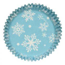 """48 caissettes à cupcakes standard """"Flocons"""""""