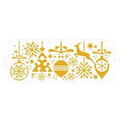 Pochoir décoration de Noël 10 x 28 cm