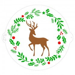 Pochoir Renne de Noël Ø 25 cm