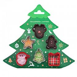 Kit de 6 mini emporte-pièces décorations de Noël