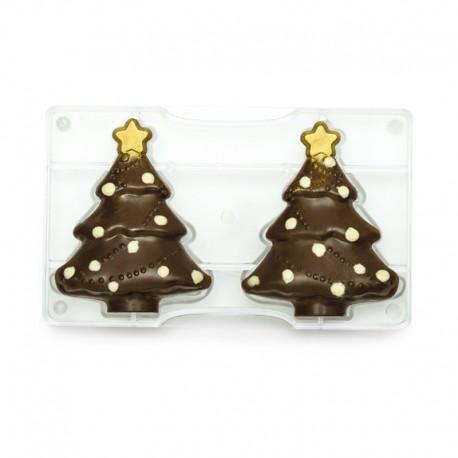 Grand moule à chocolats Sapin de Noël 3D