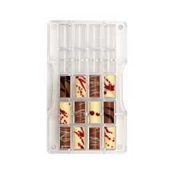 Moule à chocolats petits cylindre de Noël - 20 cavités