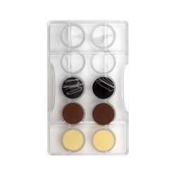 Moule à chocolats rond - 10 cavités