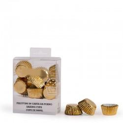 """180 mini caissettes à cupcakes unies """"Doré"""""""