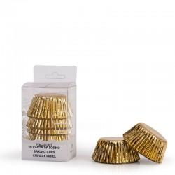 """60 caissettes à cupcakes standard unies """"Doré"""""""