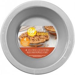 4 mini moules à tarte semi jetables 10 x 4.2 cm