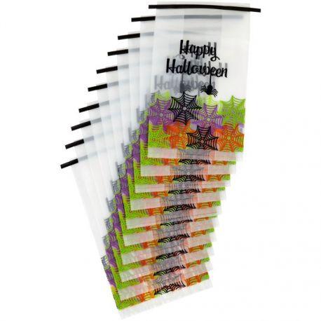 """10 sachets à confiseries et bonbons """"Happy Halloween"""""""
