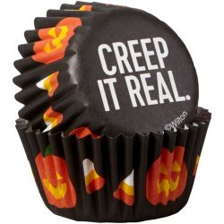 "100 mini caissettes à cupcakes ""Creep it real"""