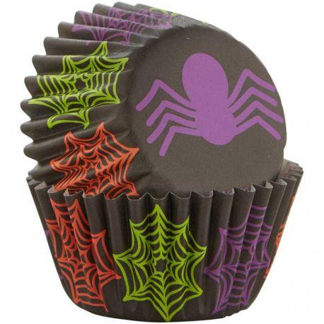 """100 mini caissettes à cupcakes """"Araignée"""""""