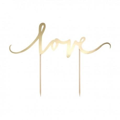 """Topper pour gâteau """"Love"""""""