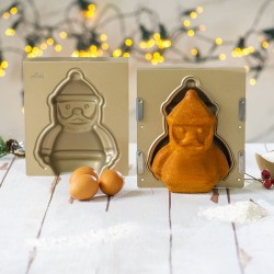 Moule à gâteau antiadhésif Père Noël 3D