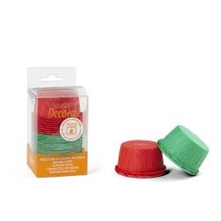 """25 caissettes à cupcakes standard """" Rouge et Vert"""""""