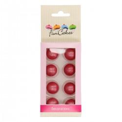 8 boules de dragées au chocolat - Couleur : Rose