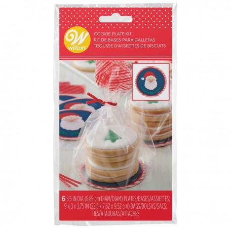 6 sachets à confiseries pour biscuits de Noël