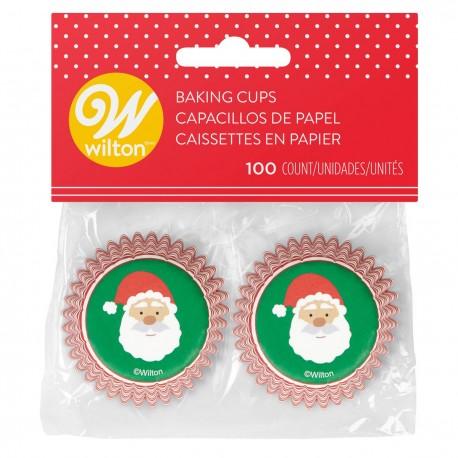 """100 mini caissettes à cupcakes """"Père Noël"""""""